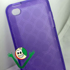 Custodia soft in TPU CERCHI per iPod Touch 4 4G VIOLA morbida