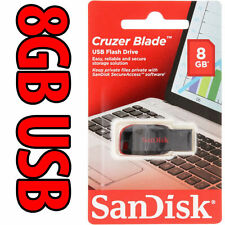USB FLASH DRIVE SANDISK 8GB CRUZER BLADE ORIGINAL NEW PEN DRIVE SDCZ50-008G-B35