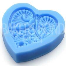 Floral Angel Wings Love Heart Silicone Mould Romantic Tool Cupcake Topper Cake