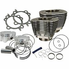 """S&S 107"""" Wrinkle Black Big Bore Cylinder & Piston Kit Twin Cam 2007-2015 Top End"""