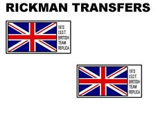 RICKMAN ISDT TANK TRANSFERS DECALS SOLD AS A PAIR TRIUMPH