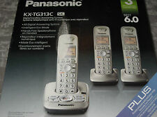 Panasonic 3 Handsets Cordless Phones DECT 6.0 Answering System KX-TG313C