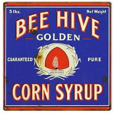 Reproduction Bee Hive Corn Syrup Sign 12X12