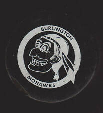 Burlington Mohawks COHL OHA GAME Puck Indian Brave WIRED e70s Warrior WhoaNelly