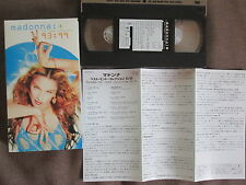 MADONNA The Video Collection 93:99 JAPAN NTSC VHS w/SLIP CASE+INSERT WPVR-90010