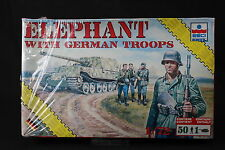 YD028 ESCI 1/72 maquette tank char 8621 Elephant with German Troops rare version