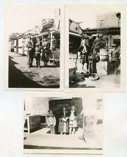 """Tourists in Chinatown Los Angeles CA """"Shanghai Street"""" 3 Vintage 1943 Photos"""
