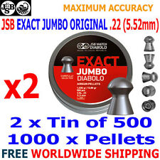 JSB EXACT JUMBO ORIGINAL .22 5.52mm Airgun Pellets 2(tin)x500pcs