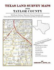 Texas Land Survey Maps for Taylor County : With Roads, Railways, Waterways,...