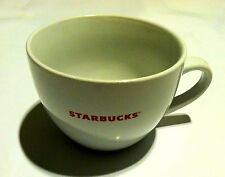 Starbucks Mug Bone White Red Lettering Coffee Tea Cappuccino Cup