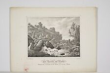 Lithographie de Vilain 1828 La Brèche au Diable arrondissement Falaise Calvados