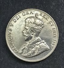 Canada 1923 5 Cents Nickel George V Nice Coin Fully Lustrous 8 Pearls Visible