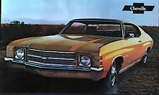"1971 Chevelle w/SS Original Factory Issued Sales Brochure (POSTER) 11""x18"""