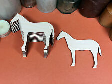 WOODEN RACE HORSE SET  Shapes 10cm (x10)  wood cutouts crafts blank shape