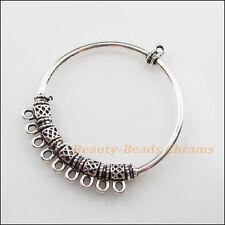 1Pc Tibetan Silver Tone 1-9 Round Circle Charms Pendants Connectors 47x56mm