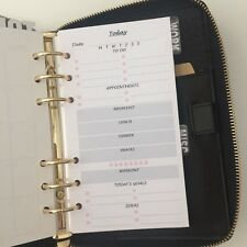 Personal Planner Size Insert Filofax Kikkik Punched Day On 1 Page (1month)