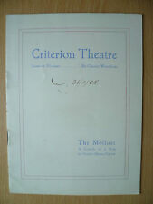 CRITERION THEATRE PROGRAMME 1908- THE MOLLUSE by Hubert Henry Davies