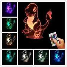 Pokemon GO Pocket Monster Charmander 3D USB Light Handmade Multi-Colored Lamp