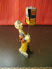 Scarce 1920's Distler JD Tin Wind-up Carnival Circus Propeller Entertainer Gely
