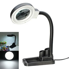 40 LED Lighting Magnifying Crafts Glass Desk Lamp With 5X 10X Magnifier