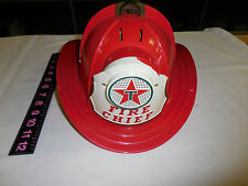 Vintage TEXACO FIRE CHIEF FIREMAN HAT WITH MICROPHONE-- DAMAGED FRONT EMBLEM