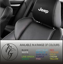5 JEEP CAR SEAT Head Rest Decalcomania Adesivo Vinile GRAPHIC LOGO BADGE POST libero