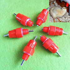 5Pcs Chicken Duck Hen Screw In Poultry Water Nipple Drinker Feeder