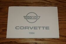 1984 Chevrolet Corvette Owners Operators Manual 84 Chevy