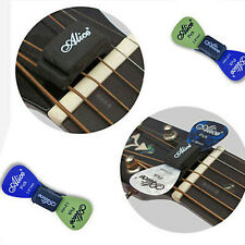 WEDGIE Guitar Headstock Pick Plectrum Rubber Holder Clip Case with 2 FREE Pick