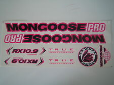 Mongoose PRO RX 10.9 Titanium Stickers Black, Pink & White.
