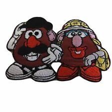 "DISNEY'S TOY STORY MR & MRS POTATO  HEAD 3 1/2""X 2"" EMBROIDERED PATCH"