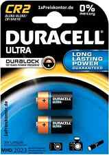 2x Batterie CR2 Duracell Ultra 3V Lithium Duralock Blister, DLCR2 ELCR2 CR15H270