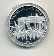 Medaille zu den Deutschen 10 Euro Münzen 50 Jahre 17 Juni 2003 M_334