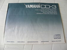 Yamaha CD-3 Owner's Manual  Operating Instruction   New