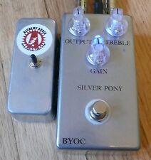BYOC Silver Pony Overdrive Boost Assembled Guitar Effects Pedal Alchemy Audio