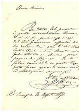 Lettera Giureconsulto Giovanni Antonio Venturi Lavoro Consulente Canazei 1851