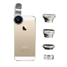4in1 Fish Eye+Wide Angle Micro Telephoto Lens Camera Clamp Kit for iPhone 6s 6