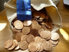 BULK PACK OF 1966 UNCIRCULATED HALFPENNIES A PACK OF 25 COINS, SOME ARE TONED.