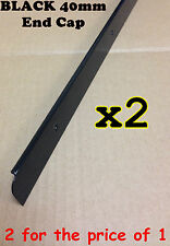 x2 Black Kitchen Worktop Edging Trim END CAP 40mm with screws *TWIN PACK OFFER*