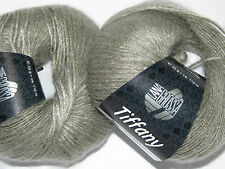 "Wolltruhe! Lana Grossa "" Tiffany "" Super Kid Mohair / Seide  Fb. 7  grege  25g"