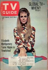 1968 TV Guide January 27 - Elizabeth Montgomery - Bewitched; Chuck Connors;