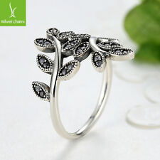 Hot Sales Silver Finger Ring With Sparkling Bow Leaves For Women Fashion Jewelry