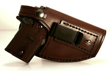 Sig Sauer P938 P238 Colt Mustang Handmade Leather Conceal Holster - Right Strap