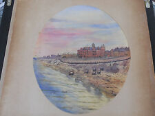 WATER COLOR PAINTING  circa 1860 NORTH SHORE BLACKPOOL UK GRAND METROPOLE HOTEL