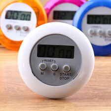 New Cute Mini Round LCD Digital Cooking Home Kitchen Countdown UP Timer Alarm S7
