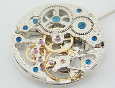 17 Jewels Silvery Full Skeleton Hand Winding 6497 movement fit Parnis watch P74