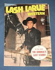 Lash LaRue Western #9  Oct 1950  Fawcett Photo Cover