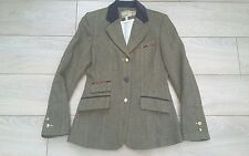 Joules Park Royal Tweed Check Mr Toad green Show hacking wool jacket blazer 10