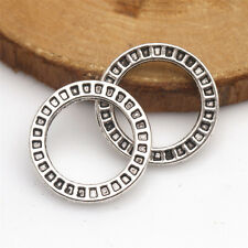 Lots Fashion 10 Pcs Tibetan Silver Crafts Round Rings Findings Connectors TA189