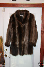 WOMENS SIZE LARGE/ RACOON JACKET- GORGEOUS/BROWN-REDUCED FOR QUICK SALE
